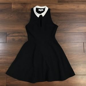 Likely Black & White Peter Pan Collar Knit Dress